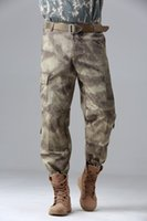 Wholesale Camouflage Pant Wide Leg - Wholesale free shipping Army Pants Waterproof Windproof Outdoors CS Camouflage Pants Men Fleece Trousers Military 4 colors plus size