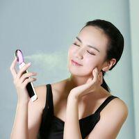Wholesale Mist Vaporizer - Vapor Face Steamer Rechargeable Portable Mini Mobile humidifier Facial Steamer Travel Moisturizing nano face care makeup vaporizer pobling