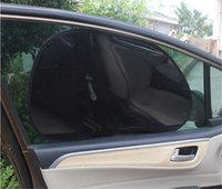 Wholesale Reflector Film - Wholesale- 63.5*39cm 2pcs Car Sunshade Side Window Vehicle Cool UV Ray Protector Heat Shield Reflector Block Film