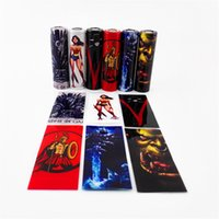 Wholesale women game thrones online - Game of Thrones Wonder Woman Spartacus Lich King Orcish Battery PVC Skin Sticker Vaper Wrapper Cover Sleeve Wrap Heat Shrink DHL