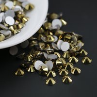 Wholesale Strass Nails - All Sizes Non Hotfix Rhinestones Flatback Glass Strass 3D Nails Decorations For Nail Art Designs (Ore Gold)