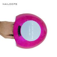 Wholesale uv hand lamp - Wholesale- Cordless Rechargeable Hand Auto Sensor Gel Nail LED UV Lamp 48W nail polish led lamp nail