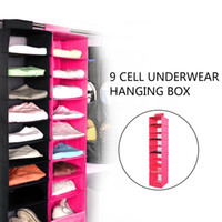 Wholesale Cloth Board - 9 Layers Washable Oxford Cloth PP Vacuum Board Durable Reliable Long Life Span Underwear Storage Bag Rack-Rose Red Black
