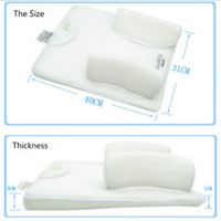 Wholesale Infant Pillows Wholesale - Wholesale- 2016 Baby Infant Newborn Anti Roll Pillow Sleep Fixed Positioner System Prevent Flat Head Cushion Ultimate Vent Baby Pillow