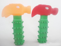 Wholesale Wholesale Plastic Hammers - 2016 new Best sells Pet sounding hammer toy for pet dog cat toy random colors dog products supplies free shipping