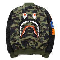 Wholesale Thin Hoodie Male - 2017 hoodies for Men WGM Embroidery Shark MA1 Flight Male Baseball Service US Air Force Pilot Jacket suprem
