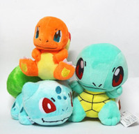 Wholesale Rare Video Games - OHMETOY 3 PCS New Anime Game Bulbasaur Charmander Squirtle Rare Turtle Soft Plush Figure Collectible Doll Baby Toy Kids Gift