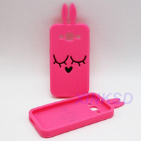 Wholesale Galaxy Grand Duos 3d Cases - 3D Lovely Bunny Phone Bags Cases For Samsung Galaxy Core Prime G360 Trend Duos Grand Duos i9082 Grand Prime A3 A5 A7 A8 J5 J7