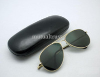 rückspiegelgläser großhandel-Anti-Track Rearview Sonnenbrille UV Schutz Anti UV Sonnenbrille Pilot Sonnenbrille Rückspiegel Brille mit Schutzbox