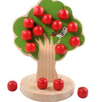 Wholesale Tree Apple Wooden Magnetic - Wholesale- Wooden Apple Tree Magnetic Baby Children Montessori Learning Educational Math Toys K415