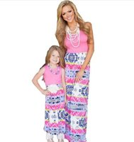 Wholesale Dresses Children Girl Plus Size - Plus Size Family Matching Outfit Clothing Mother Daughter Lace Maxi Long Dress Mom Girl Kids Patchwork Lace Parent-child Dress Vestidos