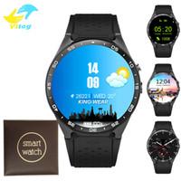 android 5.1 montre intelligente achat en gros de-KW88 MTK6580 Android 5.1 OS Smart Watch téléphone 400 * 400 écran quad core core smartwatch soutien SIM podomètre fréquence cardiaque