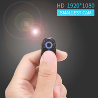 en küçük kameralar toptan satış-Toptan-Küçük Taşınabilir 1080 P Full HD 720 P Çift Mod Mini DV Kamera Kamera Mikro Kızılötesi Gece Görüş Hareket Algılama Kam DVR
