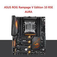 Wholesale Intel Computer Motherboard - ASUS ROG Rampage V Edition 10 R5E Republic Of Gamers Desktop Computer GAMING Motherboard AURA LGA2011 I7 6950X RAM DDR4 3333MHz 128G