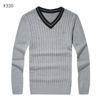 Wholesale white knit button sweater men - Free shipping 2016 new high quality mile wile polo brand men's twist sweater knit cotton sweater jumper pullover sweater men