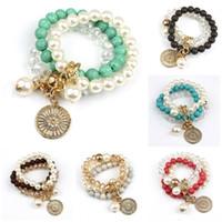 Wholesale Loom For Wholesale - Charm Bracelets Fine Jewelry For Women Special Loom Band Unique 2016 Most Popular Design Imitation Turquoise Fashion Multilayer Bracelet