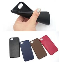 Wholesale Lambskin Leather Wholesale - For iPhone 7 Plus Lambskin Soft PU Leather Case Ultra Thin Back Cover For iPhone 6s 6 Plus OPPO R9S Plus Opp Bag