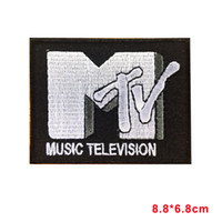 Wholesale Music Retro - MTV RETRO MUSIC TELEVISION Iron On Sew On Patch badge motif
