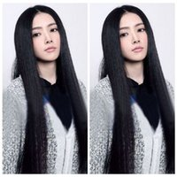 Wholesale Cosplay Free Shipping Europe - ePacket free shipping Women Europe Stylish Natural Black Synthetic Fashion Cosplay Wig Long Straight