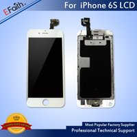 Wholesale Button Frames - LCD Display For White iPhone 6S 4.7 inch Touch Screen with Digitizer Bezel Frame+Home Button+Front Camera Full Assembly & Free Shipping