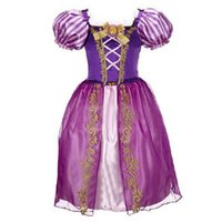 Wholesale Halloween Costume Snow White - New Girls Cinderella Dresses Children Snow White Princess Dresses Rapunzel Aurora Kids Party Halloween Costume Clothes k20