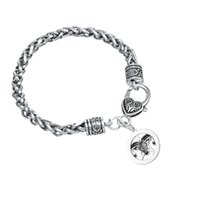 Wholesale Wholesale Irish Charms - High Quality Antique Silver Irish Animal Jewelry Wheat Chain Lobster Clow Clasps Bracelet