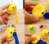 Wholesale Wholesale Splat Balls - Fashion Funny Toy Splat Egg Venting Ball Stress Relief Joke Gag Gift Squishy Toy Soft Fun Splatter (Color: Yellow)