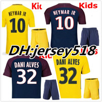 Wholesale T Shirts Boys Children - 17 18 kids NEYMAR JR shirt AURIER T SILVA CAVANI DI MARIA PASTORE Verratti 2017 2018 child jersey football LUCAS Children soccer jerseys