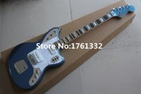 Wholesale Electric Guitars Jaguar - Wholesale- China wholesale 22 frets blue jaguar style electric guitar with white pearl pickguard ,can be changed as your request