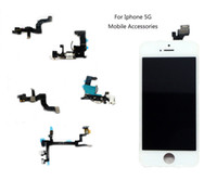 Wholesale Iphone Volume Switch - For Iphone 5 Switch Power Button Flex Cable ON OFF Mute Switch Volume Buttons Replacement Repair Parts Iphone 5G