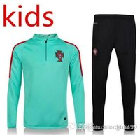 Crew Neck spain train - 2016 Kids thai quality France Italy Spain jackets Netherlands Portugal England Training suits Holland football shirt Maillot
