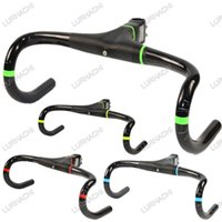 Wholesale Super Light Stem - 4 colors choice GIHB01 Super light Full Carbon UD Weave Integrated Road Bicycle Handlebar Road Bike Handlebars With Stem 288g Only
