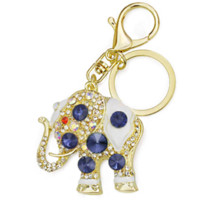 Amazing Elephant Crystal Bag Pendant Purse Bag Buckle Trendy Key chains Holder Keyrings Keychains para carro K189