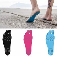 Wholesale heat socks - Feet Sticker Adhesive Protection Non - Slip Stick on Soles Flexible Foot Pads Sock Heat Invisible Barefoot Sandy Shoes Beach Waterproof