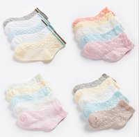 Wholesale Diamond Baby Socks - New 2017 Baby Girls Cotton Socks 8 Styles Baby Girls Princess Socks Flouncing Diamond Lattice Flower Striped Dress Good Match Pad Sock Q0902