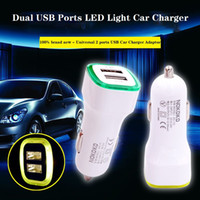 Universal Led Light Car Charger 5V 2.1A Dual USB Ports Charing Adapter pour iphone 7 Samsung S7 HTC LG Smartphone Tablet PC DHL CAB198