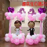 balon gemisi toptan satış-Kalın Inci Kemer Yuvarlak Balon Şişirme Ile Düğün Süslemeleri Ücretsiz Kargo Hızlı Colorfuly Balon Dört Kiinds Düğün Malzemeleri