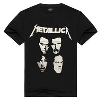 Wholesale Rock Band S - Hot Sale 2017 New Fashion Design Metallica Metal Band Creative Printing Rock Men's T-shirt Short Sleeve 3D Print T Shirt
