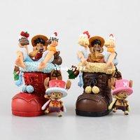 brinquedos quentes luffy venda por atacado-NEW hot 11 cm One piece luffy tony chopper tony sapatos de natal figura de ação brinquedos de presente de natal