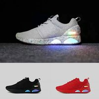 Wholesale Led Glow Red - Authentic Air Mag Low Men's Shoes Led Casual Shoes Glow in the Dark Mens Mag Designer Mesh Breathable Shoes Size 40-45