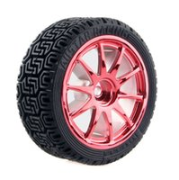 4x RC HSP HPI ruota pneumatici per auto Rally, D: 68mm, W: 26mm, esagono in lamiera: 12mm 6001-8014