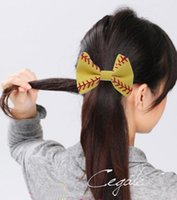 Wholesale ordering african hair for sale - Group buy new arrival Choose your Colors Softball Baseball Hair Bows Team Order Bulk Listing