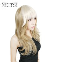 Wholesale Clip Straight Bangs - Wholesale Hair Style Neitsi Short Straight Clip in Synthetic Hair Bangs Neat Fringe Hairpieces 25g pc Highlight Color