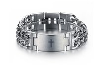 Link, Chain spain bracelet - hot sale stainless steel jewelry fashion Spain biblical Lord pray anti rust titanium steel chain link chain bracelets for men