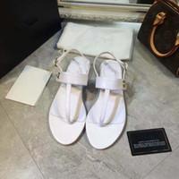 Wholesale B Production - 2017 big European style luxury designer shoes sandals, leather uppers pure Seiko production quality assurance best, ferret toe straps, flat