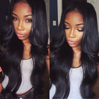 Wholesale brazilian wavy long human hair online - Glueless Brazilian Body Wave Full Lace Human Hair Wig Wavy Virgin Hair Lace Front Wig with Baby Hair FDSHINE