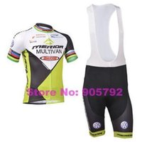 Wholesale Merida Bike Clothing - Wholesale summer 2014 merida men's cycling Jersey sets with short sleeve bike shirt & padded (bib) short in cycling clothing