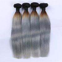 Wholesale virgin gray hair weft for sale - Group buy Best Hot Sale Human Hair Unprocessed Brazilian Body Wave Peruvian Indian Malaysian Human Color B Gray Virgin Hair Extensions