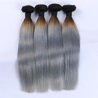 cheveux gris malaisiens vierges achat en gros de-Meilleure Vente Chaude De Cheveux Humains Non Transformés Brésilienne Vague de Corps Péruvienne Indienne Malaisienne Couleur Humaine 1B / Gris Vierge Extensions de Cheveux Livraison Gratuite