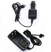 Wholesale Asus Transformer Cord - Wholesale- AC DC Home Travel Charger + Car Charging Cord Power Adapter For ASUS Transformer Vivo Tab RT TF600 TF600T TF810 TF801C TF701T